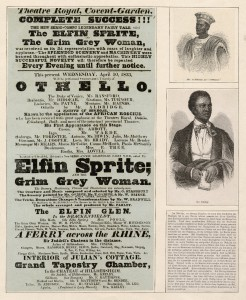Playbill from Aldridge's performance at Covent Garden, 1833
